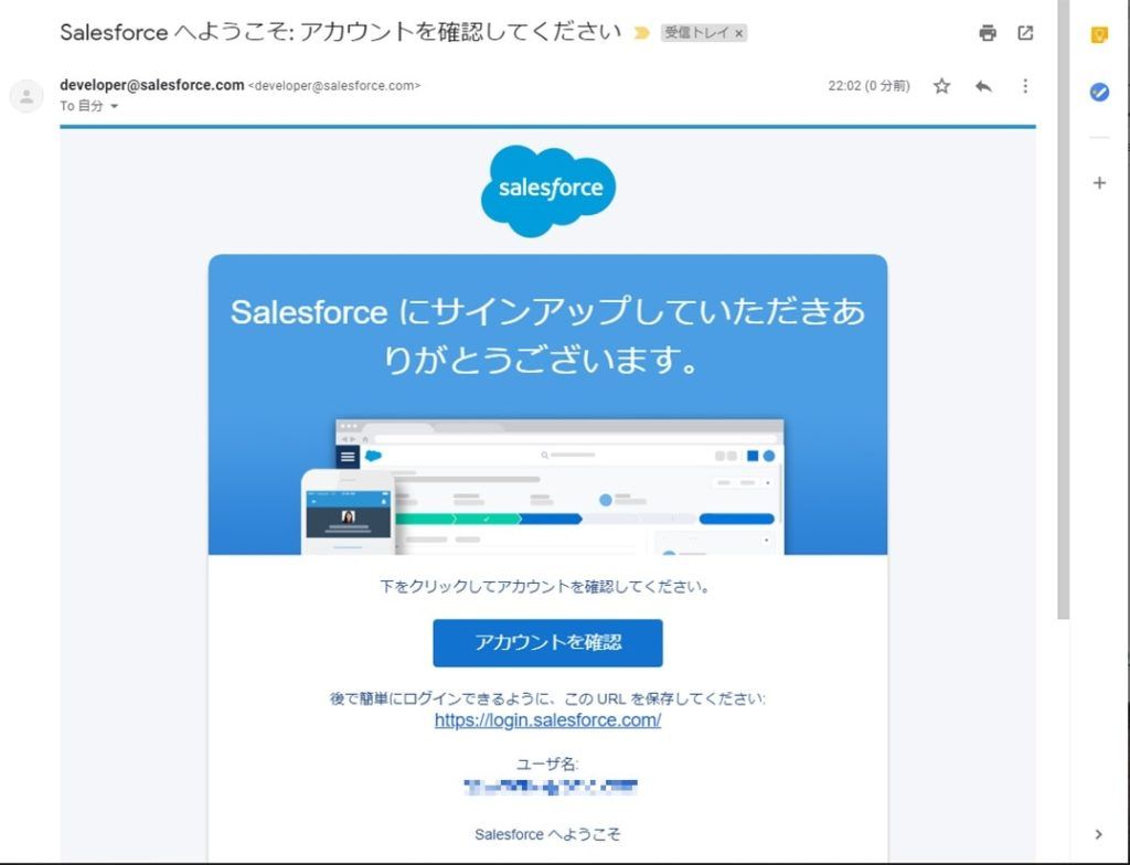 Salesforce Develop Editionメール